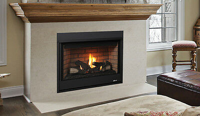 "Superior DRT Gas Fireplace 40"" Traditional Clean Face Top OR Rear Direct Vent"
