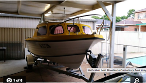 Boat Half Cabin Urgent Roselands Canterbury Area Preview