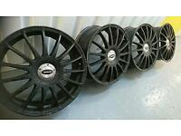 "Genuine team dynamic monza R 17"" 4x100 4x108 alloys vw Ford Vauxhall mg citreon Peugeot Honda"