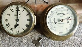 Vintage Smiths Clock and Barometer