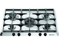 HOTPOINT G750X 5 BURNER GAS HOB (STAINLESS STEEL)