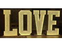 Light Up Love Letters 4ft