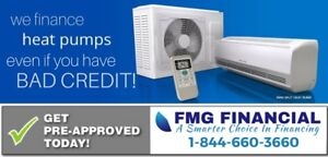 Heat Pump Financing for not so perfect credit!