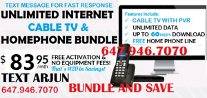 HIGH SPEED UNLIMITED INTERNET CABLE TV PHONE IP TV IPTV