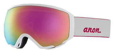 Anon WM1 Pearl White Snow Goggle with Two Premium Sonar Lenses, New!