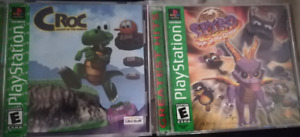 Spyro Year of the Dragon & Croc Legend of the Gobbos (PS1)