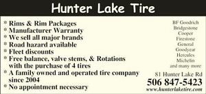 HUNTER LAKE DISCOUNT TIRE TRUCKLOAD SALE