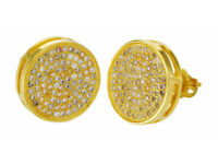 Mens 9ct gold plated stud earrings