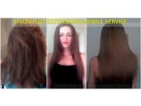 Mobile hair extensions technician