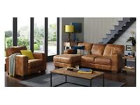 Caesar 3 seater sofa with, Caesar armchair, Caesar storage footstool