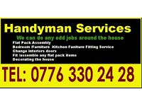 Handyman / Carpenter/Joiner/ Flat Pack Furniture Assembly / Kitchen units assembly / Door Fitting