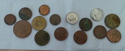 Münzen Sammlung Pece , Pfennigstücke 1, 2, 10 ab 1974