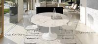 saarinen table tulipe, tulip table, marble, wood, bois, neuves