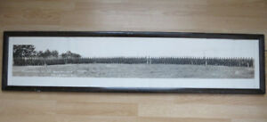 Original Vintage World War 1 Military Panoramic Photograph