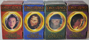 Lord of the Rings Four Glass Goblets with Lights Kitchener / Waterloo Kitchener Area image 1