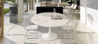 saarinen table tulipe, tulip table, marble, wood, bois, neuves