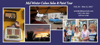 Mid Winter Cuban Salsa dance and Paint Group Holiday #2