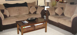 Microsuede Couch & Loveseat Set