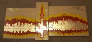 Toronto skyline large paintings