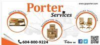 Furniture installer, mover, driver, swamper, helper