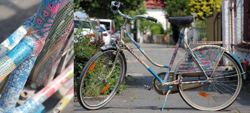 Mit Masking-Tape wird dein Bike unverwechselbar. (Copyright: Philipp Walczyk)