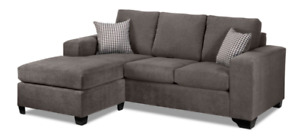 Sectional Sofa - Grey - Adjustable Chaise Left/Right