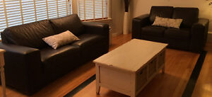 High Quality Top Grade Leather Sofa and Loveseat St. John's Newfoundland image 1