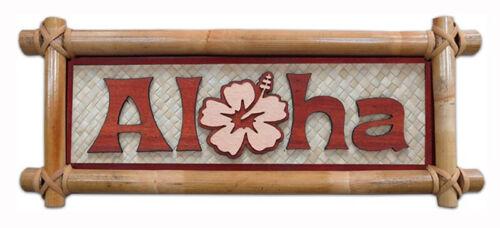 Hawaiian Bamboo Wall Sign Aloha Hawaii Aloha Island Home Kitchen Decor Mahalo NB