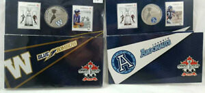Grey Cup 25c Collectors Coin Stamp Sets
