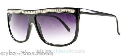 Oversized Studded Rhinestone Retro Fashion Sunglasses