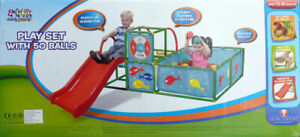 *NEW* 3 in 1 Gym Set-Kids Indoor Portable Slide-Ball Pit-Playset