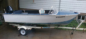 16 ft  boat and trailer