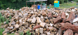 Blond sandstone 100 tons+ available reclaimed