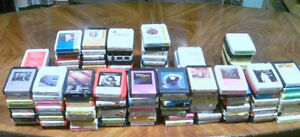 Eight track tapes 122 total. Many never played.