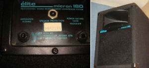USAGÉ* YORKVILLE SPEAKER MICRON 160 MADE IN CANADA --