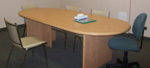 Boardroom Table and File Cabinets.  Take one or all.