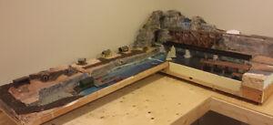 Seaside HO Train Layout Module