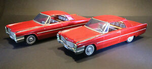 Pair of 1966 Cadillac Coupe DeVille 2-dr Hardtop Toy Cars by ATC