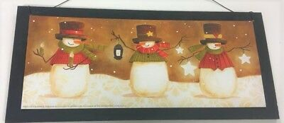 Snowman lanterns Christmas winter holiday decor country wood wall or wreath sign