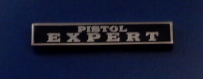 PISTOL EXPERT Silver/ Black Uniform Commendation/Award Bar Pin police/sheriff
