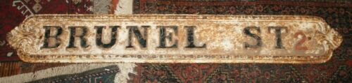 "Victorian 52"" Antique Cast Iron Street Sign Brunel Street 2 Birmingham England"