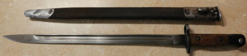 British Robert Mole & Son Pattern 1907 Sword Bayonet Mark I WWI 1916 Scarce Rare