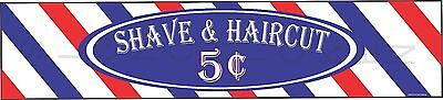 Barber Shop Sign -shave Haircut - Customize The Price Barber Aluminum Sign