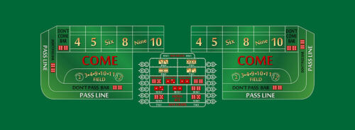 Craps layout 12 foot choice of 4 colors