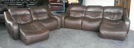DFS Zara Brown Leather Corner Style Sofa Set.WE DELIVER