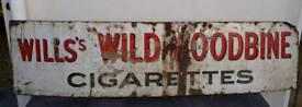 Enamel sign Wills's Wild Woodbine *old*