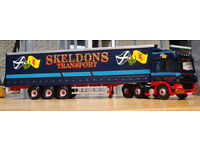 Corgi CC13615, DAF CF Curtainside - Skeldons Transport, 1:50