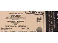 X2 Anne-Marie standing tickets Glasgow
