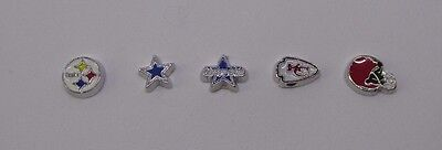 NFL Football Teams Cowboys Steelers Chiefs Floating charms for living locket](Floating Charms For Lockets)