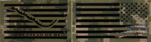 NWU Type III Reverse US Flag & First Navy Jack Patch Set IR VANGUARD UNIFORMS